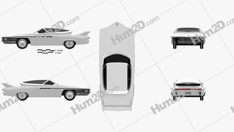 Chrysler TurboFlite 1961 car clipart