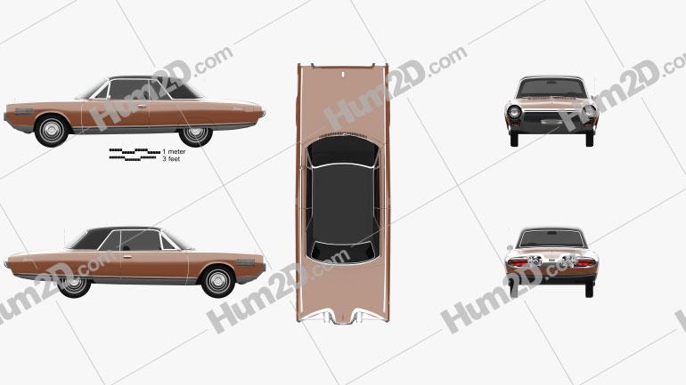 Chrysler Turbine 1963 car clipart