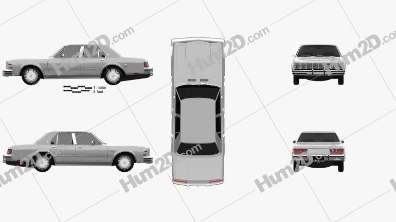 Chrysler LeBaron Medallion Sedan 1978 car clipart