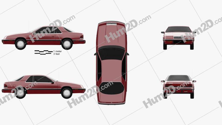 Chrysler LeBaron coupe 1987 car clipart
