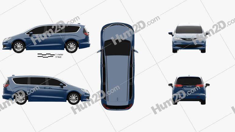 Chrysler Voyager 2019 clipart