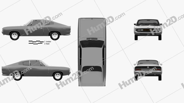 Chrysler Valiant Charger RT 1971 car clipart