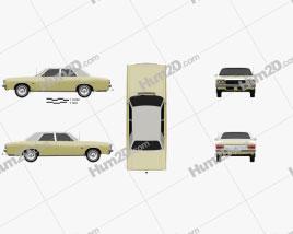Chrysler Valiant Regal 1978 car clipart