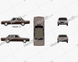 Chrysler Valiant VIP sedan 1969 Clipart