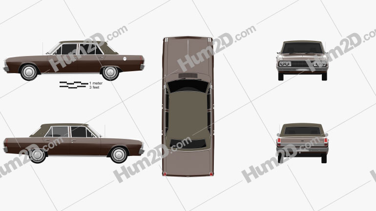 Chrysler Valiant VIP sedan 1969 car clipart