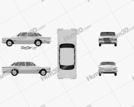 Chrysler Valiant sedan 1962 Clipart