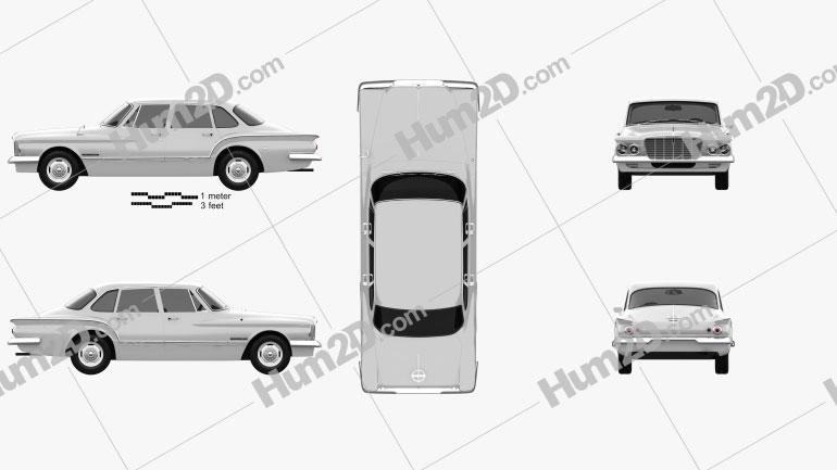 Chrysler Valiant sedan 1962 car clipart