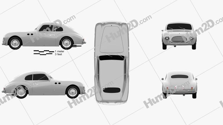 Cisitalia 202 1946 car clipart