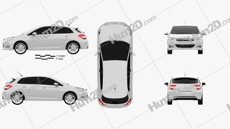 Citroen C4 2011 car clipart