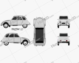 Citroen 2CV car clipart