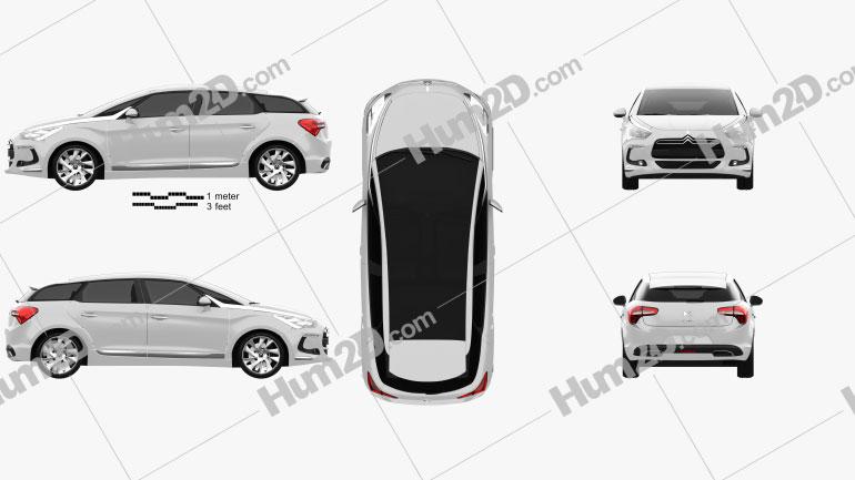 Citroen DS5 2012 Clipart Image