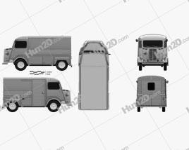 Citroen H Van 1980 clipart