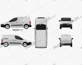 Citroen Berlingo Panel Van L1 2011 clipart