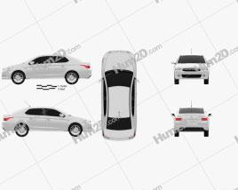 Citroen C-Elysee sedan 2013 car clipart