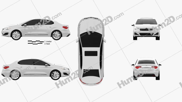 Citroen C4 L 2013 car clipart