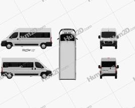 Citroen Jumper Passenger Van 2012 clipart