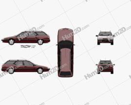 Citroen XM Break 1989 car clipart