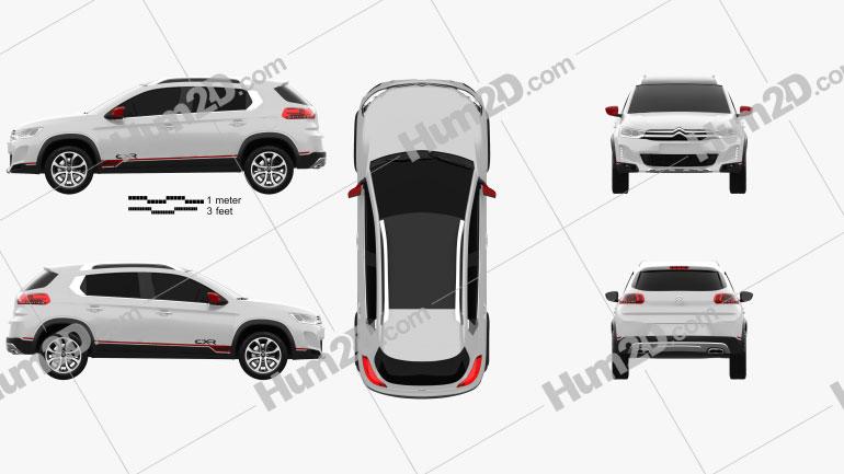 Citroen C-XR 2014 car clipart