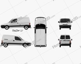 Citroen Berlingo Van 2002 clipart