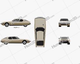 Citroen SM 1970 car clipart