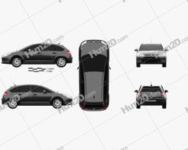 Citroen C4 hatchback 2008 car clipart