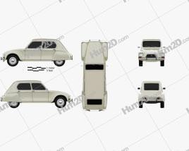 Citroen Dyane 1967 car clipart