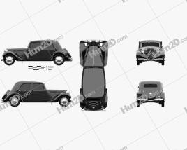 Citroen Traction Avant 1934 car clipart
