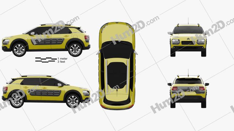 Citroen C4 Cactus 2015 car clipart