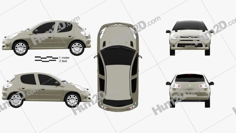 Citroen C2 (CN) 2006 car clipart