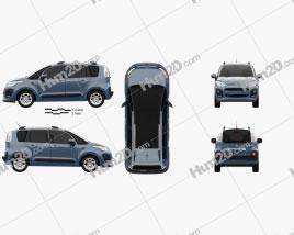 Citroen C3 Picasso 2013 car clipart