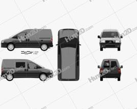 Citroen Jumpy Van 2004 Clipart