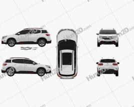 Citroen C5 Aircross 2018 car clipart