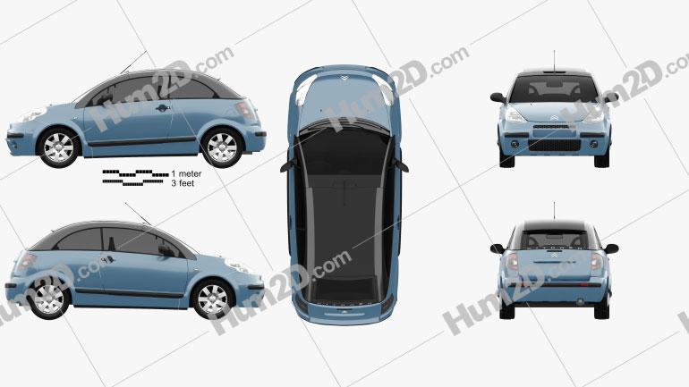 Citroen C3 Pluriel 2006 car clipart