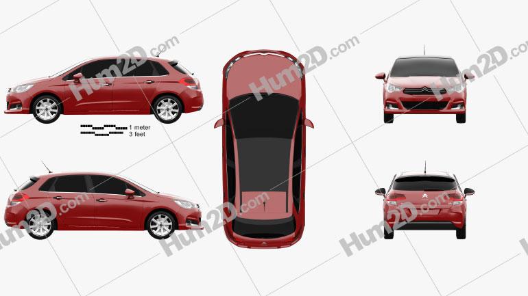 Citroen C4 2015 car clipart