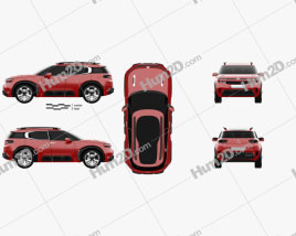Citroen Aircross Concept 2015 car clipart