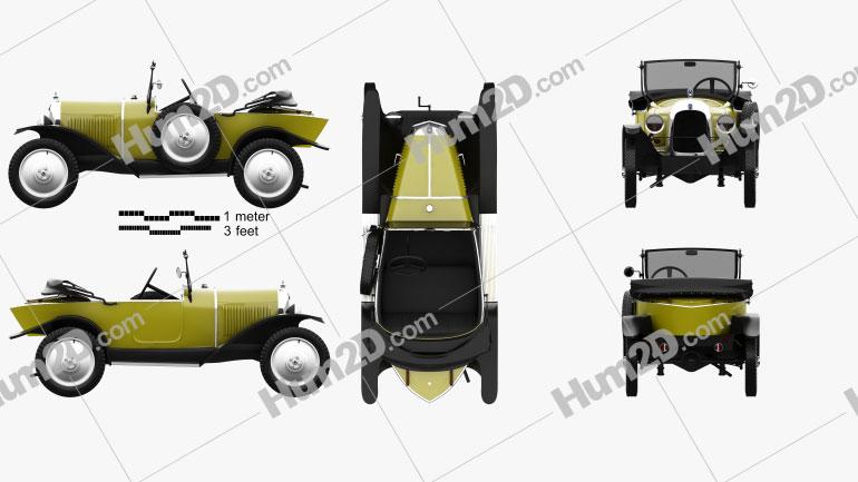 Citroen 5CV (C2) Torpedo 1924 car clipart