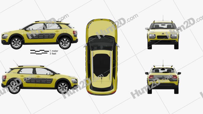Citroen C4 Cactus with HQ interior 2015 car clipart