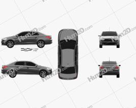 Citroen C-Elysee Live 2017 car clipart