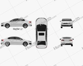 Citroen C4 (CN) sedan 2015 car clipart