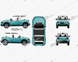 Citroen E-Mehari 2017 car clipart