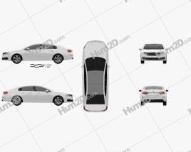 Citroen C6 2017 car clipart