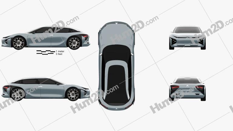 Citroen CXperience 2016 car clipart