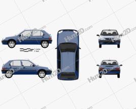 Citroen Saxo 1999 car clipart