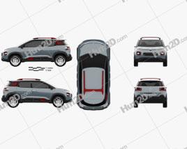 Citroen C-Aircross 2017 car clipart