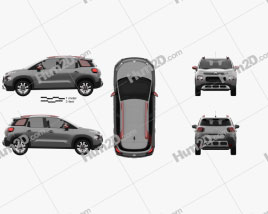 Citroen C3 Aircross 2018 car clipart