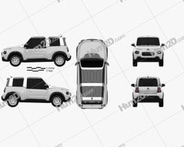 Citroen E-Mehari 2018 car clipart