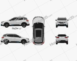 Citroen C5 Aircross Hybrid 2020 car clipart