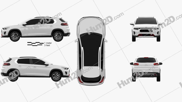Citroen C3-XR 2019 car clipart