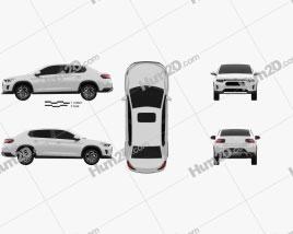 Citroen C3 L sedan 2020 car clipart