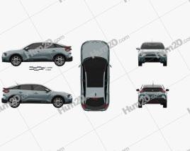 Citroen C4 e 2020 car clipart